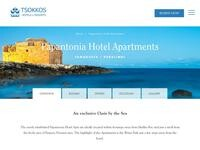 Papantonia Hotel Apts Website Screenshot