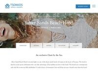 Silver Sands Beach Hotel Website Screenshot