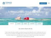 Tsokkos Gardens Apartments Website Screenshot